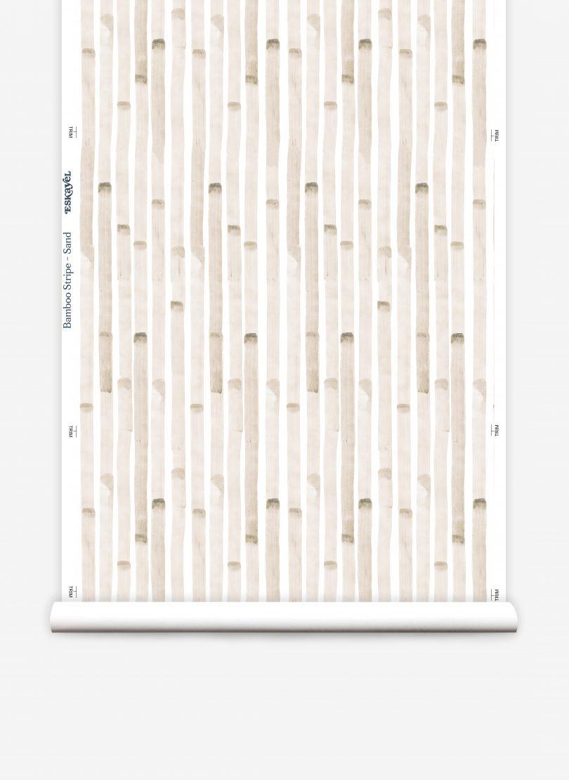 sand bamboo wallpaper roll