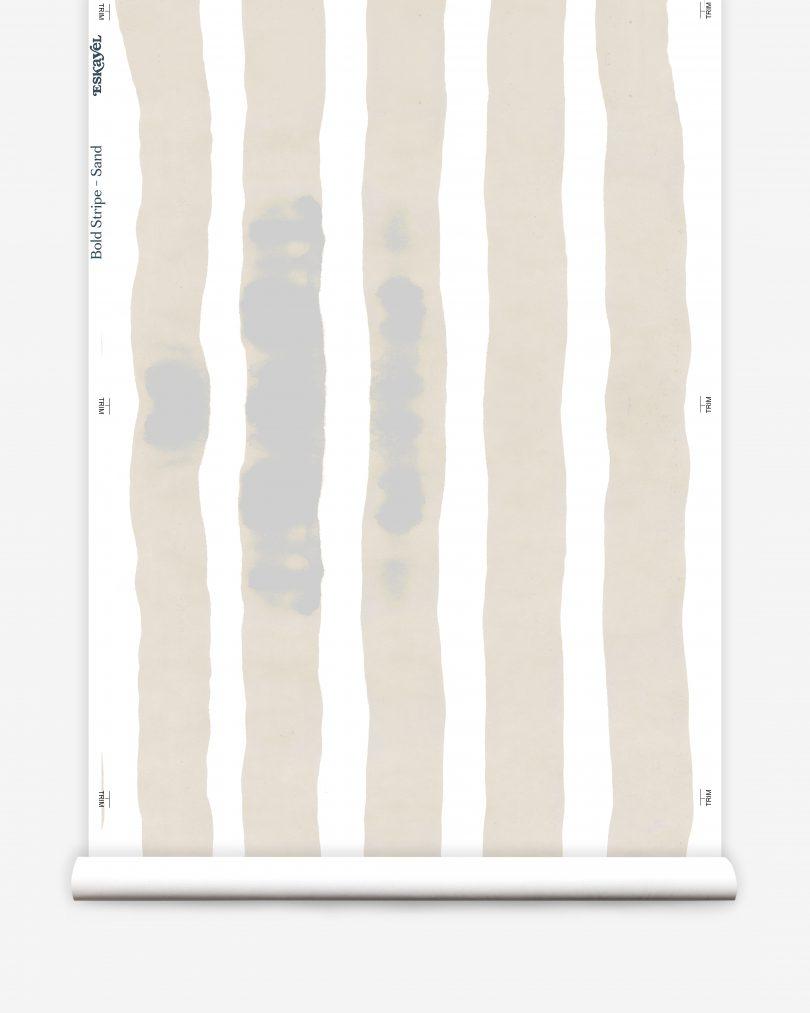 wide sand stripe wallpaper roll