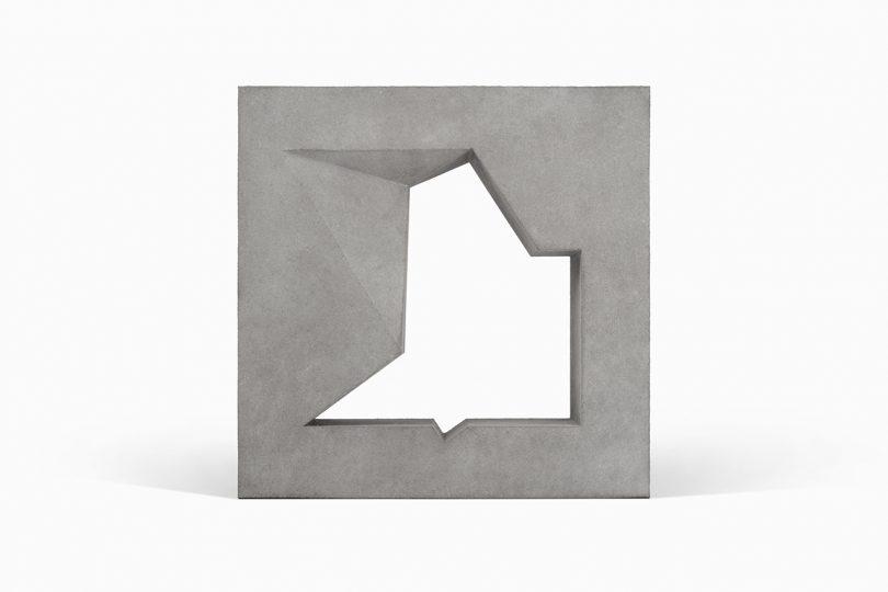 Ablin textile block on white background