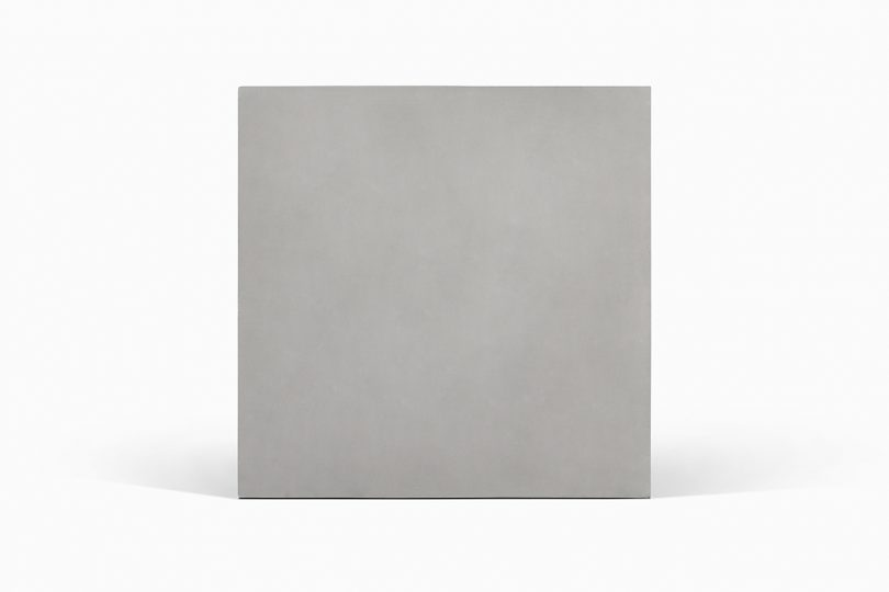 blank cement tile on white background