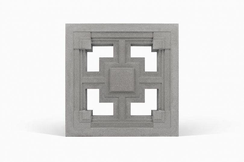 Storer textile block on white background