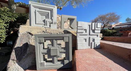 Frank Lloyd Wright-Inspired 3D Cement Tiles + Textile Blocks