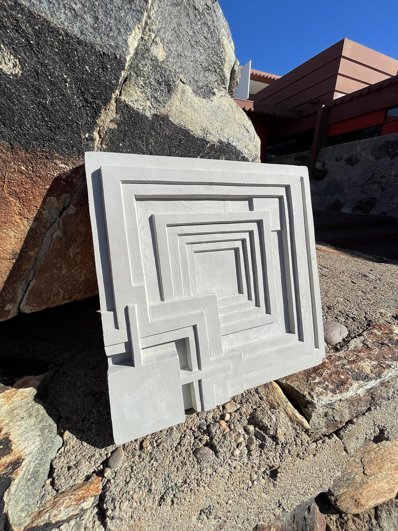 Ennis Cement Tile sitting on stone