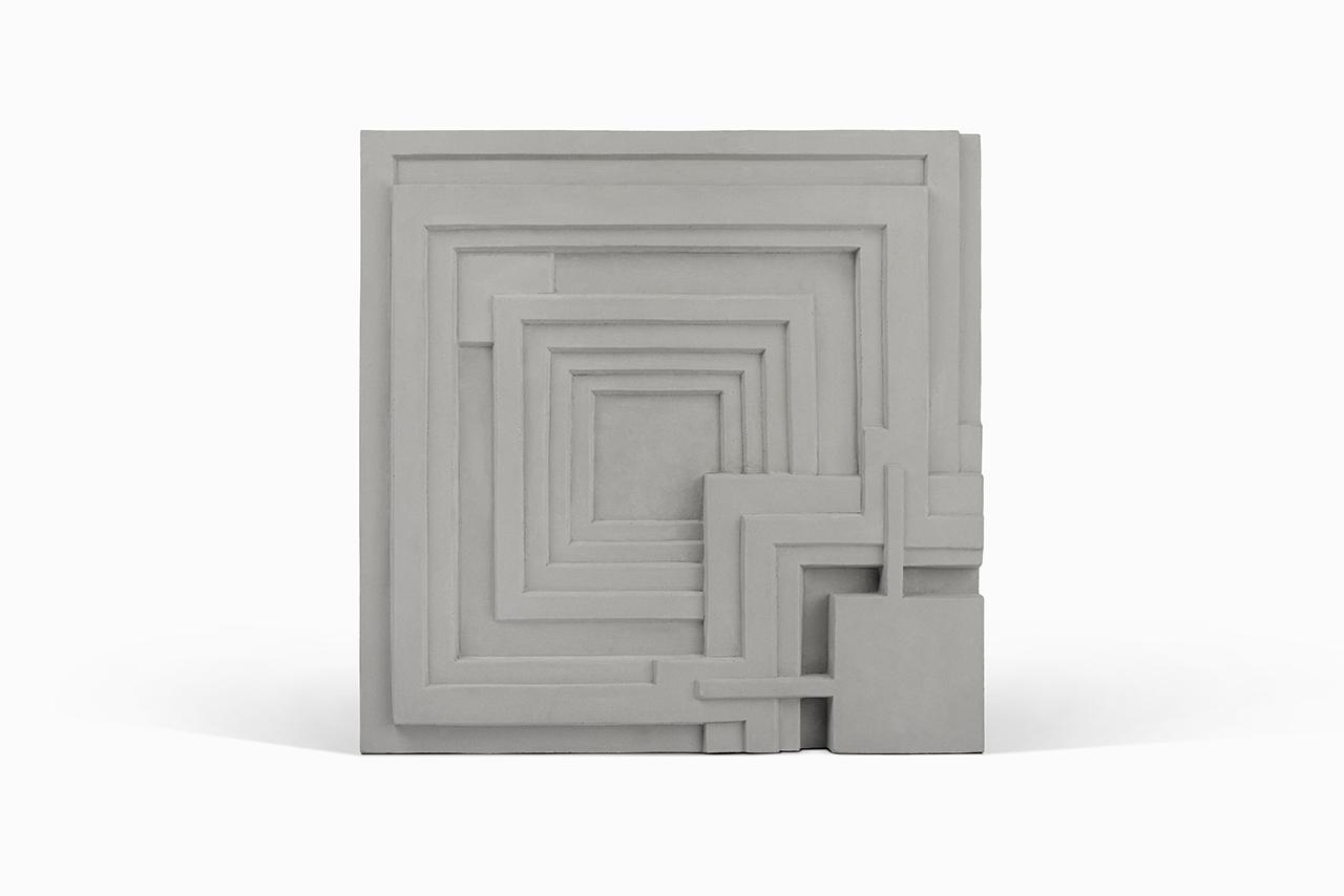 Ennis cement tile on white background