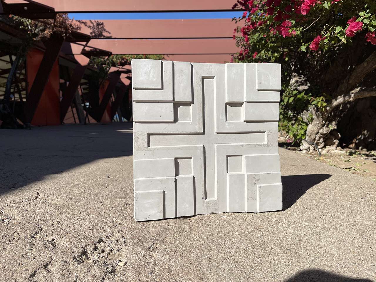 Millard cement tile sitting on cement
