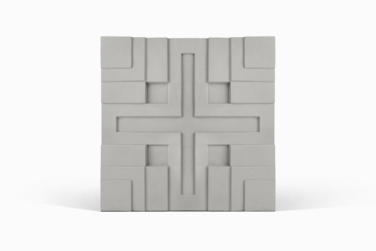 Millard cement tile on white background
