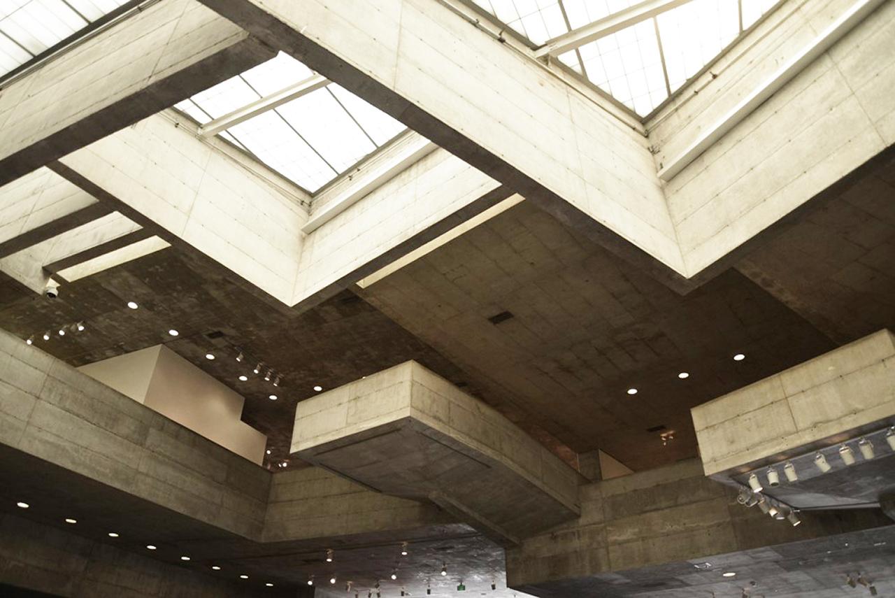 angular ceiling with skylights