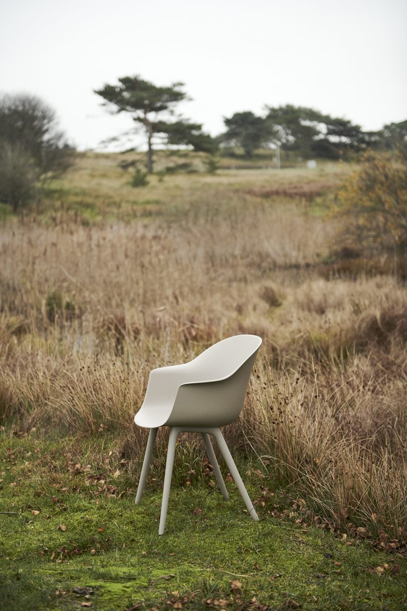 white chair in a field