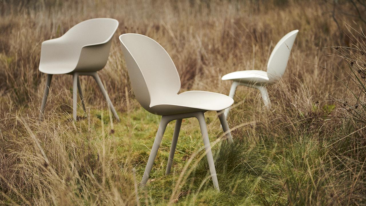 GamFratesi's Iconic Beetle + Bat Dining Chairs Meet the Great Outdoors