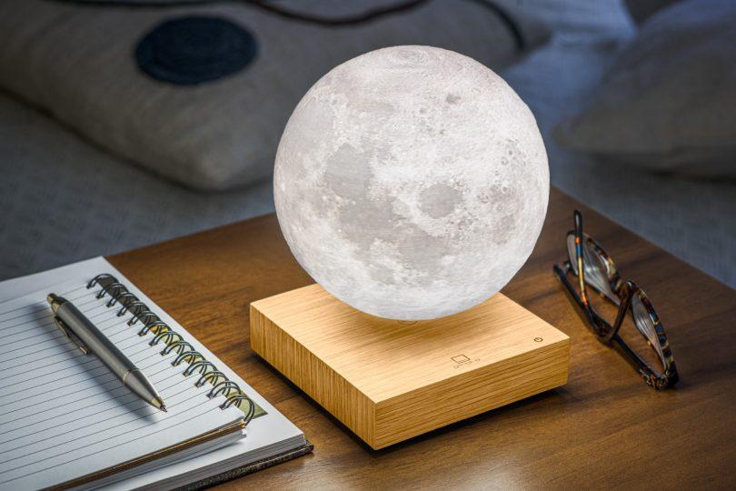 levitating moon light on table