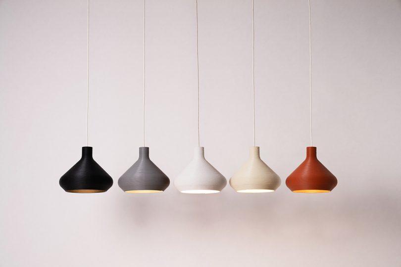 five pendant lights