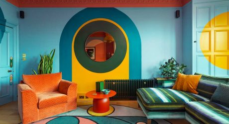 A Psychedelic Edinburgh Apartment That's a Dreamy Kaleidoscope of Color