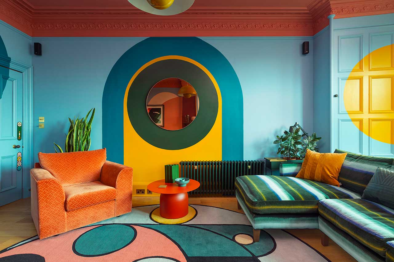 An Edinburgh Condo That is a Dreamy Kaleidoscope of Coloration