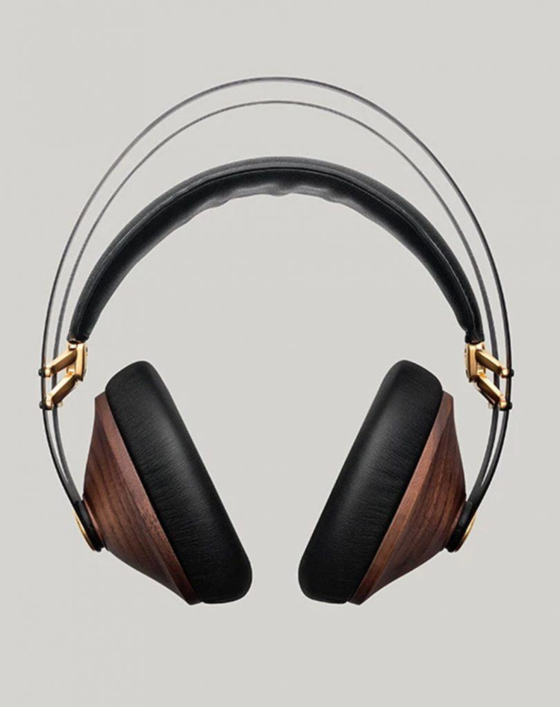 Meze Audio headphones front view.