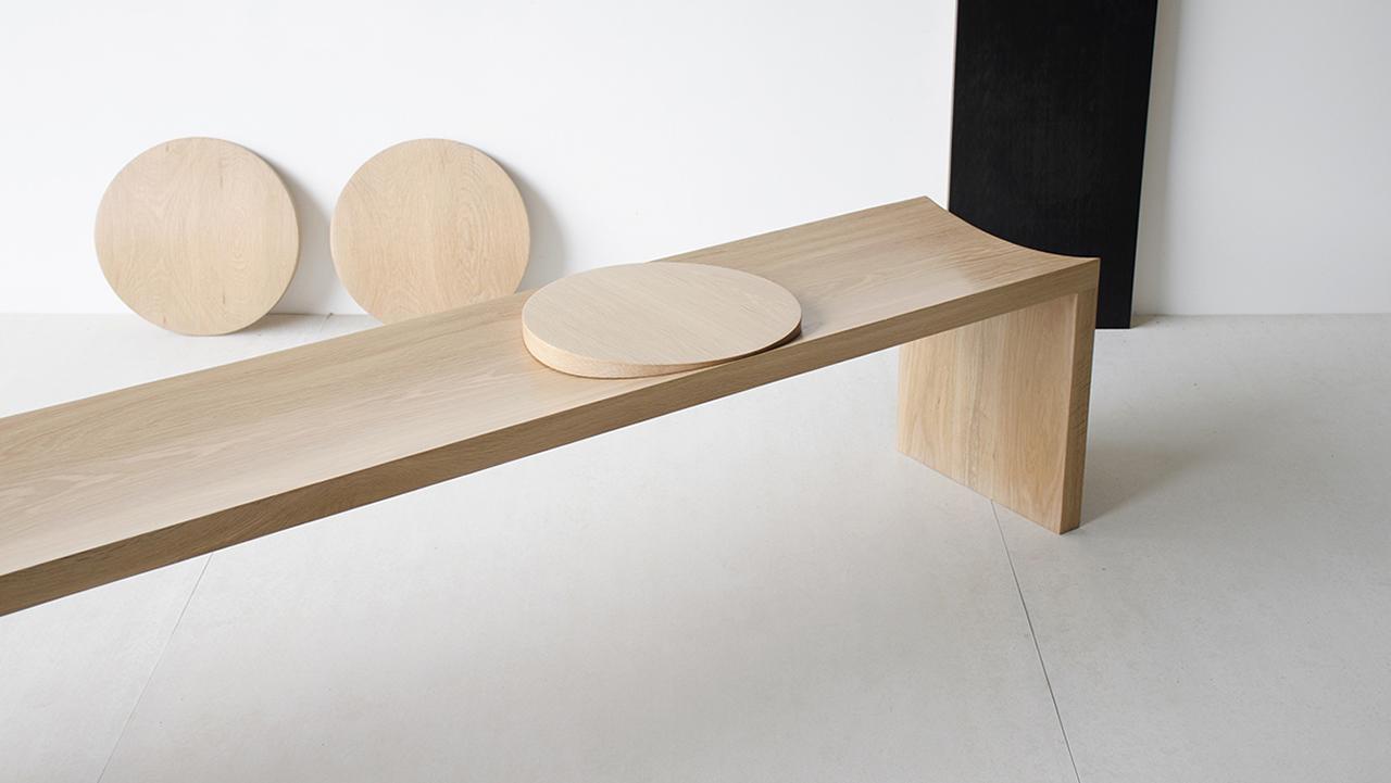 Striking Sinuous Wood Furniture + Lighting from Sabu Studio