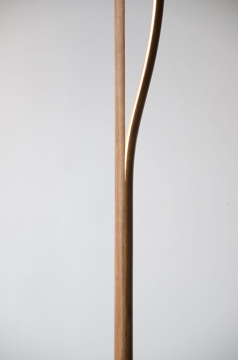 wood floor lamp detail