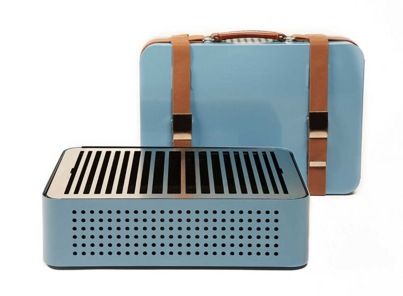 blue portable grill
