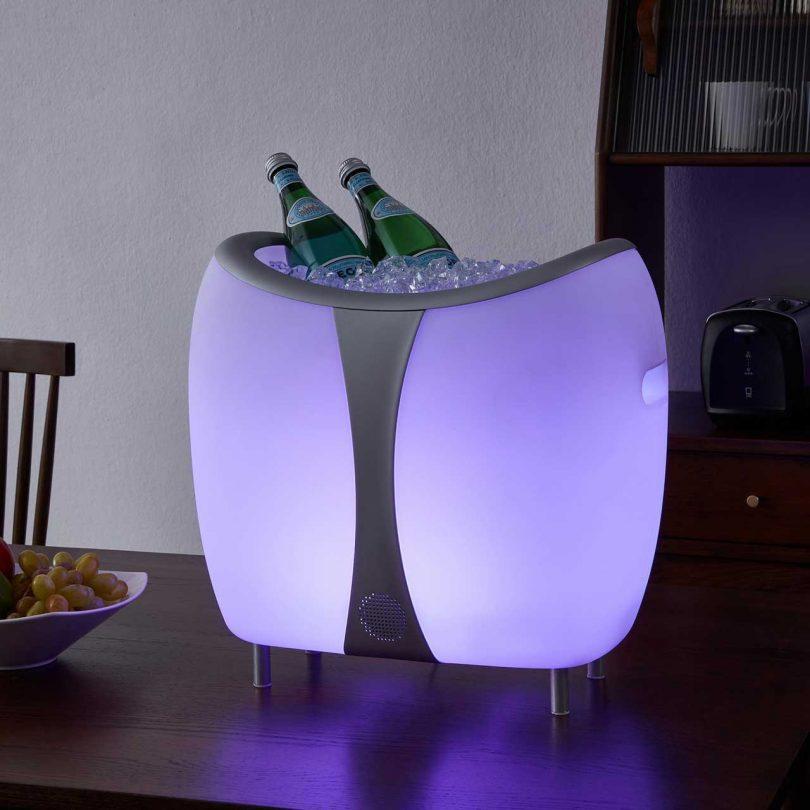 LED cooler speaker