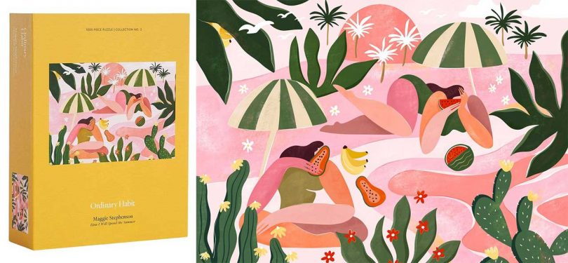 Tropical summer painting puzzle
