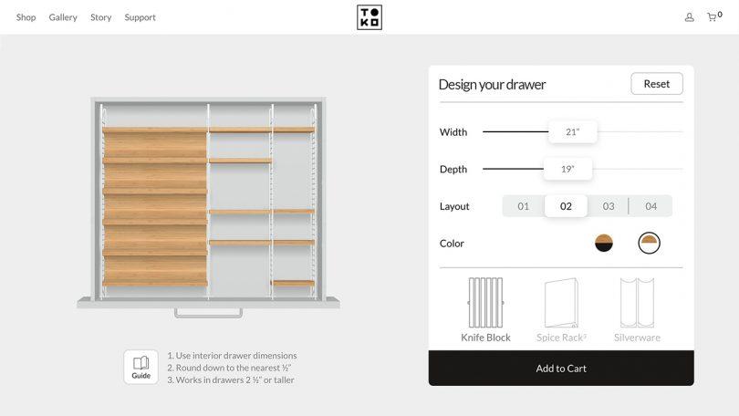 adjustable drawer organizer online tool