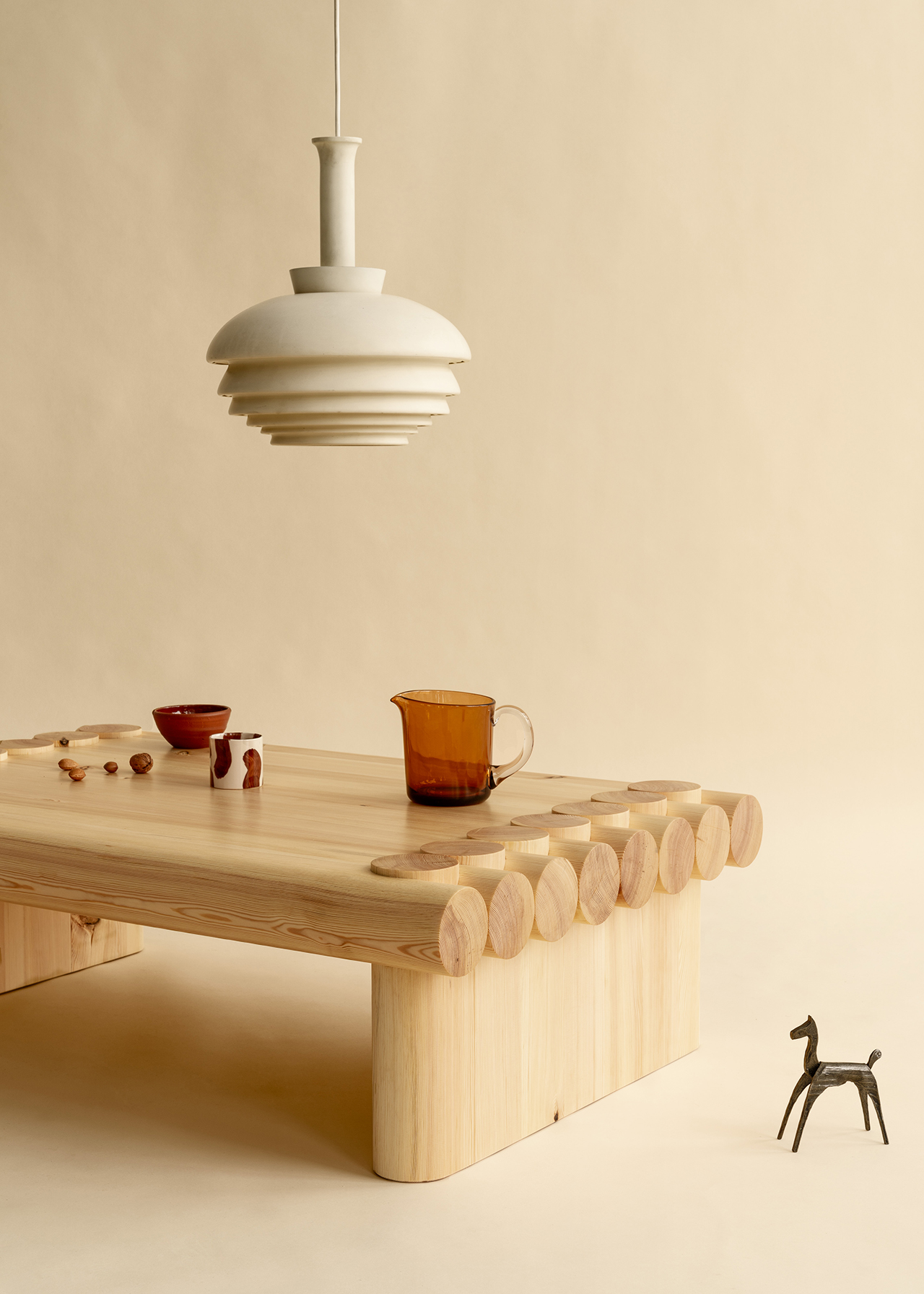 coffee table and light fixture