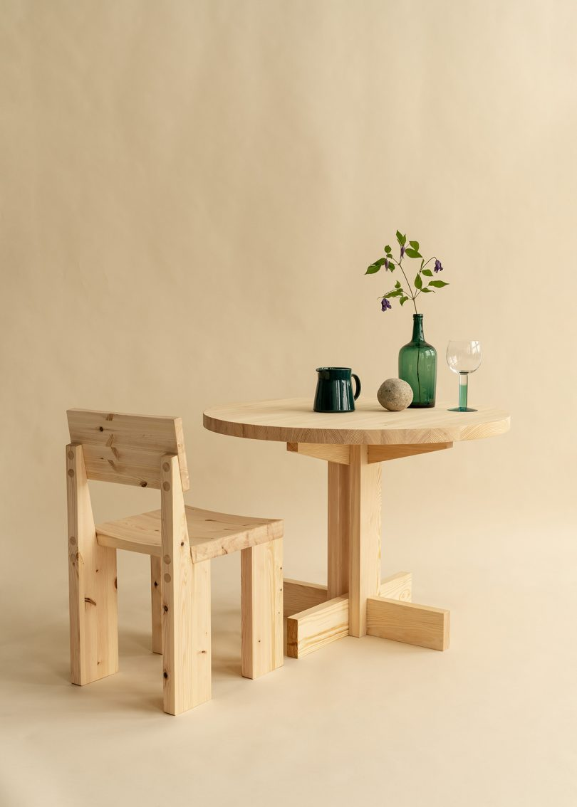 dining table and dining chair