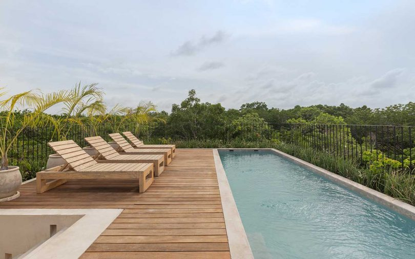 rooftop deck and pool
