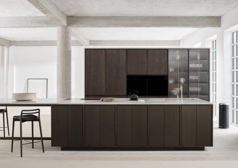 Vipp Highlights the Beauty of Jura Stone + Oak Wood in Its New V2 Kitchen