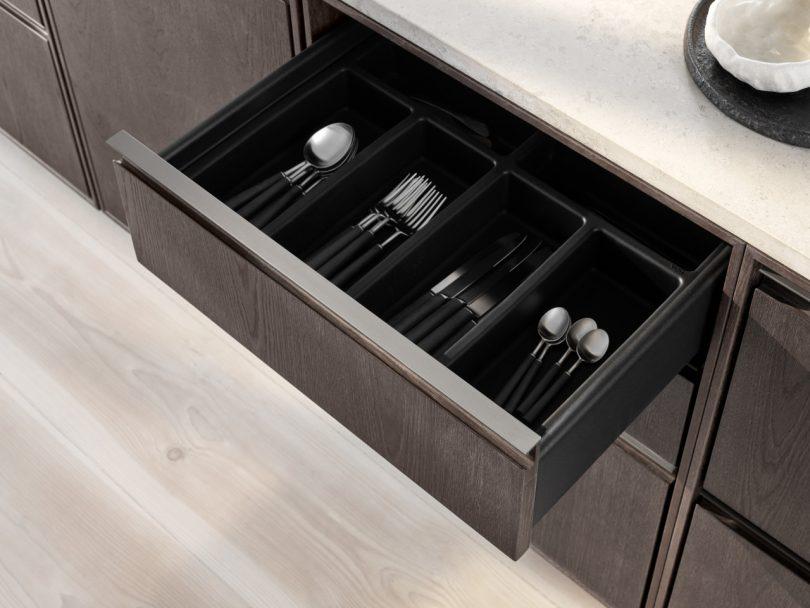 Vipp V2 kitchen open drawer