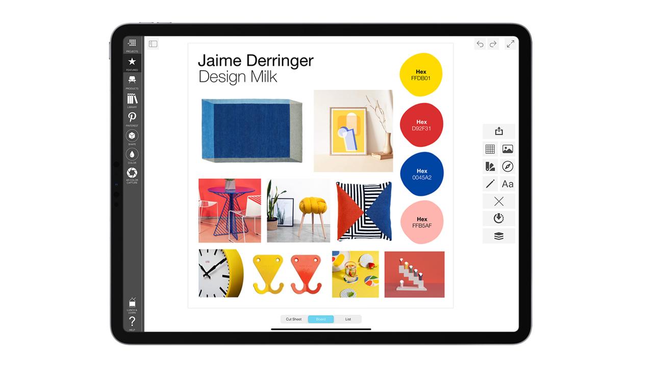 Morpholio Board App Launches New Color Swatch Tool