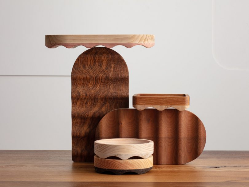 wood desk accessories and trays