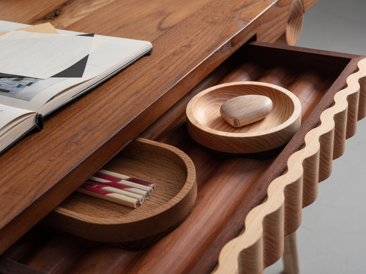 wood desk accessories