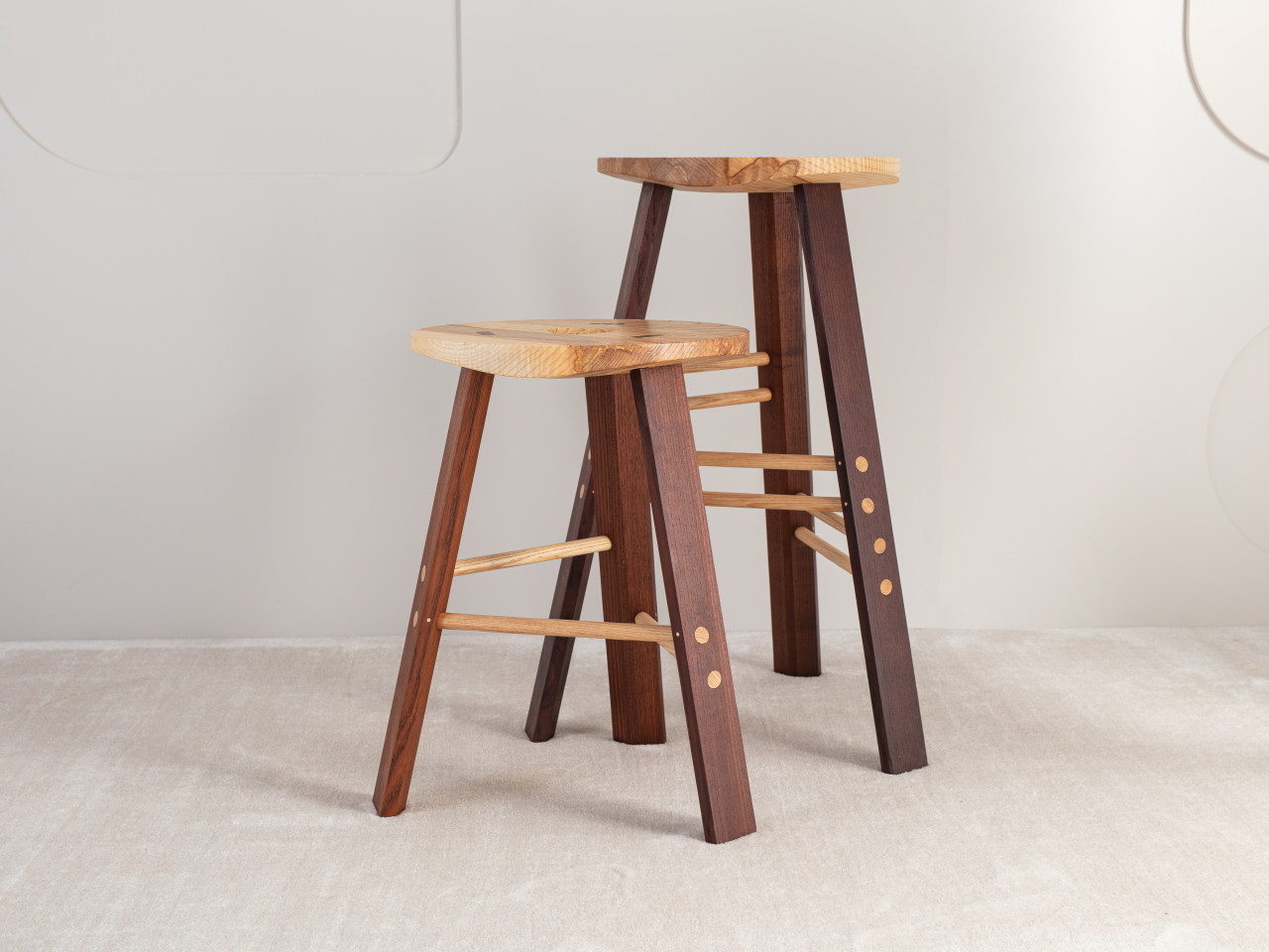 two stool chairs