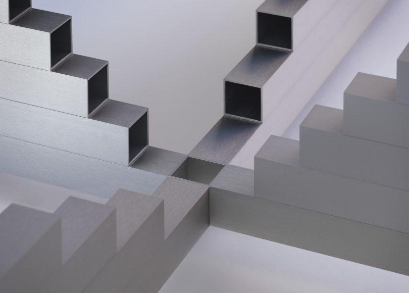 square tube table detail