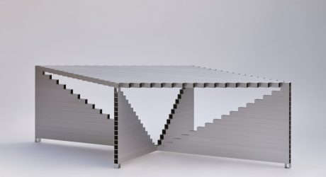Joseph Smolenicky Designs a Perplexing Table Out of Square Aluminum Tubes
