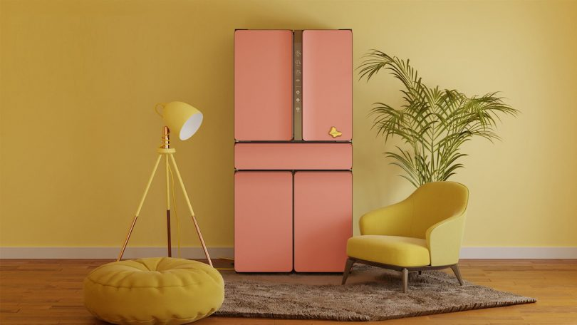 Karim Rashid KUSTOM modern refrigerator design in pink