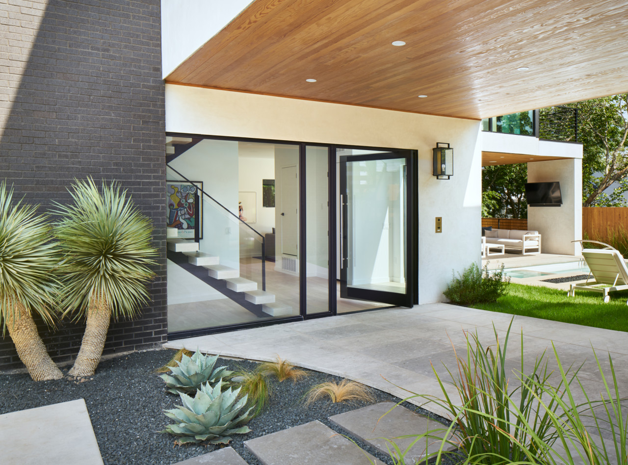 glass house entry way