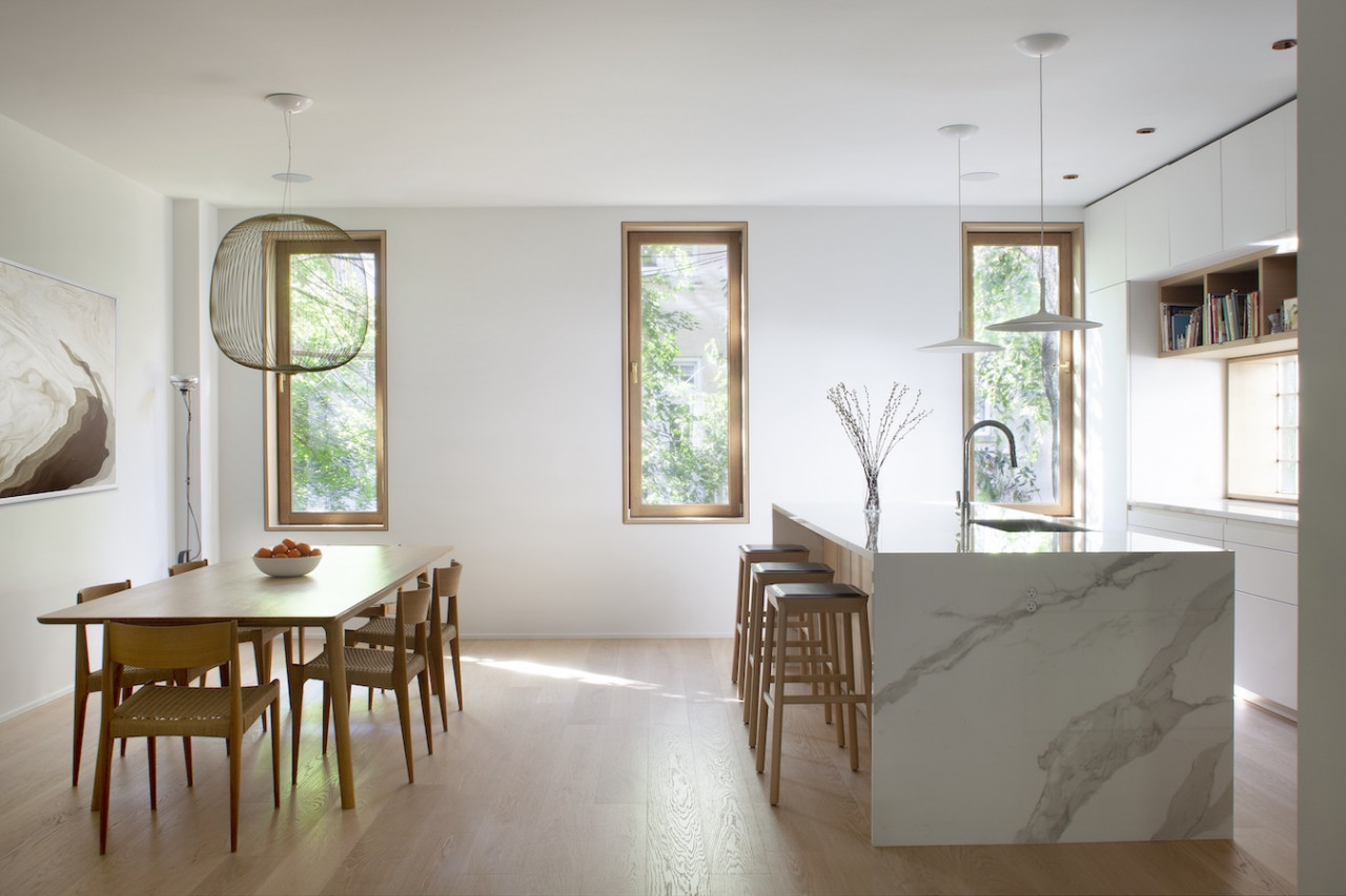 An Old Carriage House in Brooklyn Becomes Minimalist Family Home