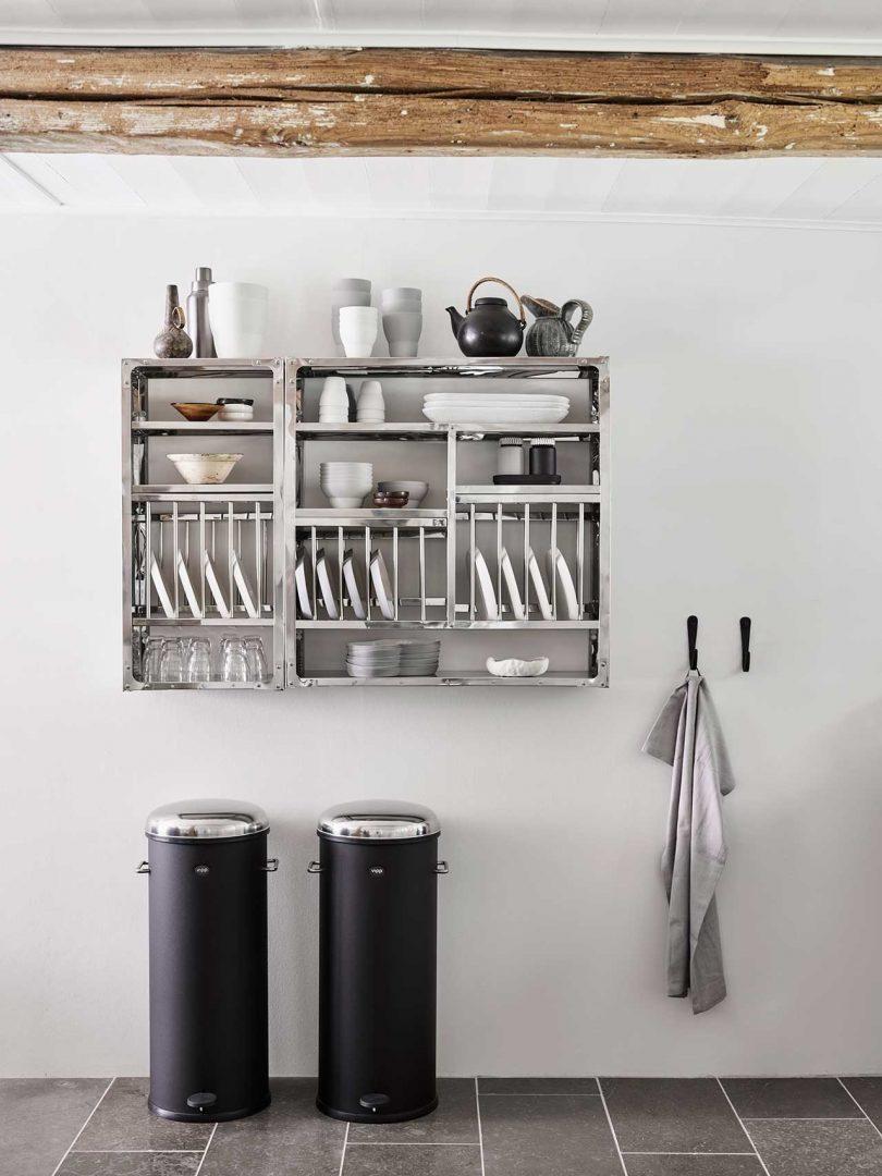 Storage on kitchen wall