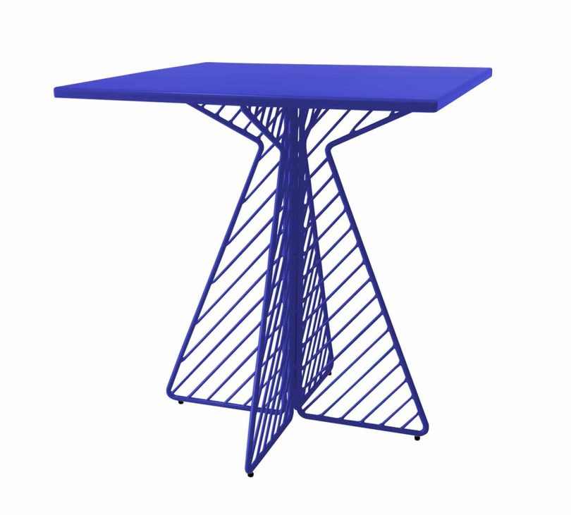 electric blue wire dining table