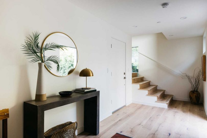entryway with staircase