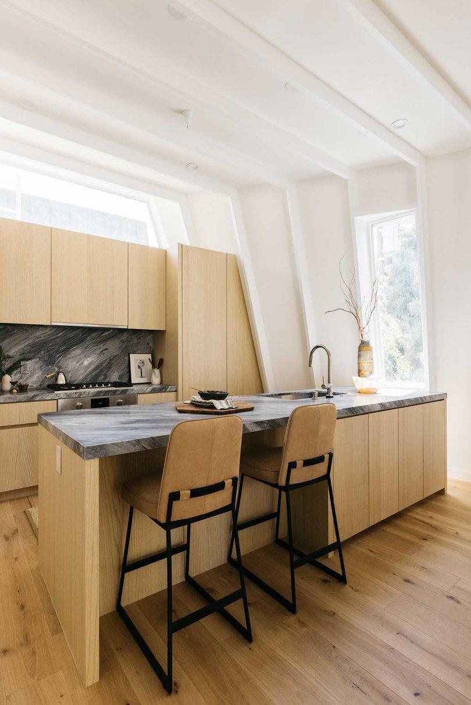 kitchen in modern white home