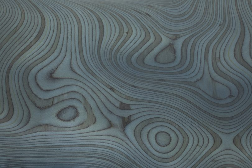 detail of bench material