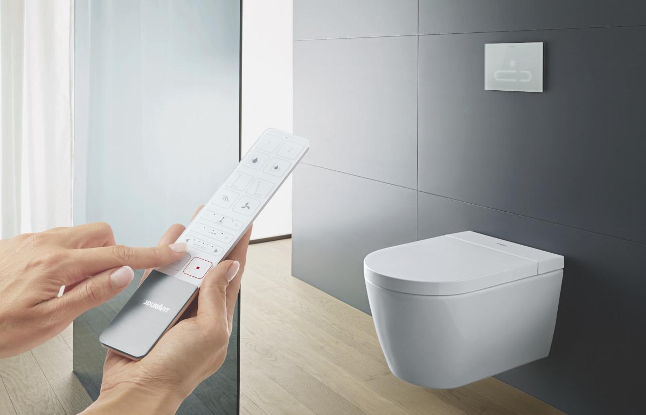 Duravit SensoWash Starck f Toilet Is Flush With Under the Lid Technologies