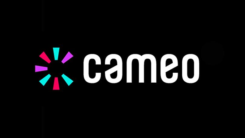 Cameo app logo on black background