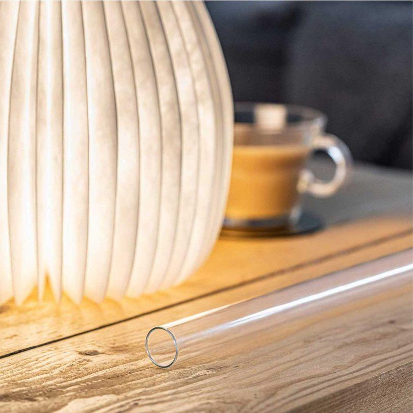 Light closeup with vase tube