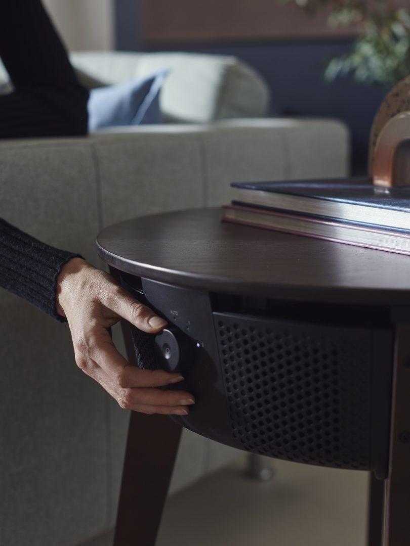 IKEA STARKVIND air purifier adjustable speed dial.
