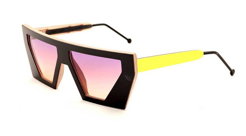 black and yellow sunglasses