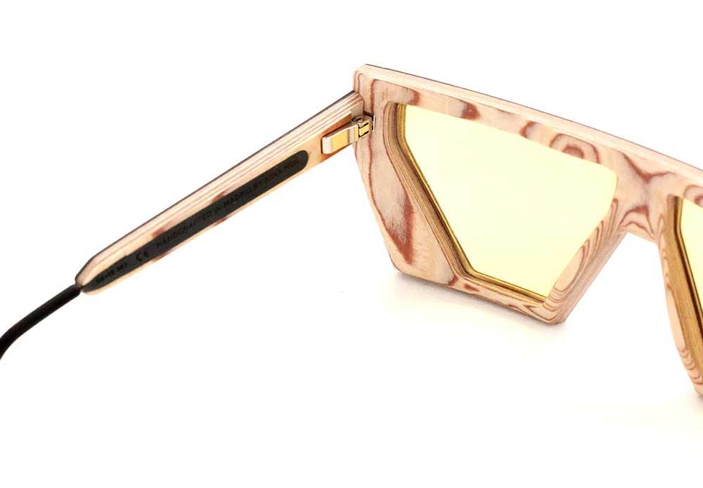 interior of glasses frame