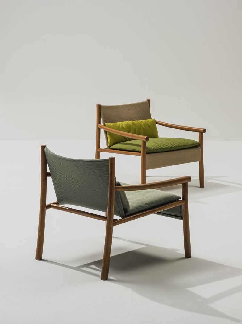 two armchairs on white background